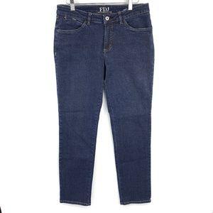 FDJ Dark Wash 8P Olivia Slim Leg Blue Jeans